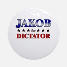 JAKOB for dictator Ornament (Round)