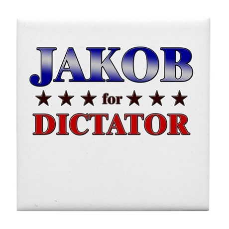 JAKOB for dictator Tile Coaster
