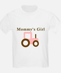 Mommy's Girl - Pink Tractor T-Shirt