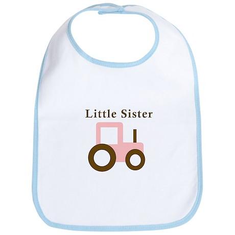 Little Sister - Pink Tractor Bib