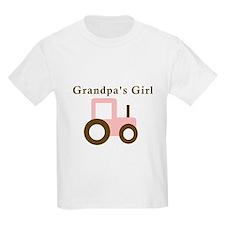 Grandpa's Girl - Pink Tractor T-Shirt