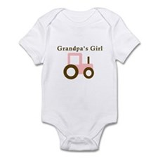 Grandpa's Girl - Pink Tractor Infant Bodysuit