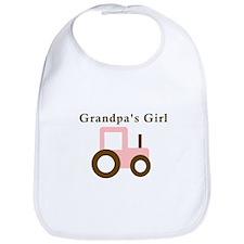 Grandpa's Girl - Pink Tractor Bib