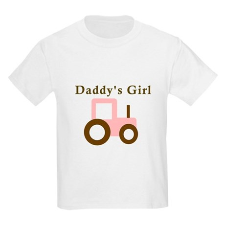 Daddy's Girl - Pink Tractor Kids Light T-Shirt
