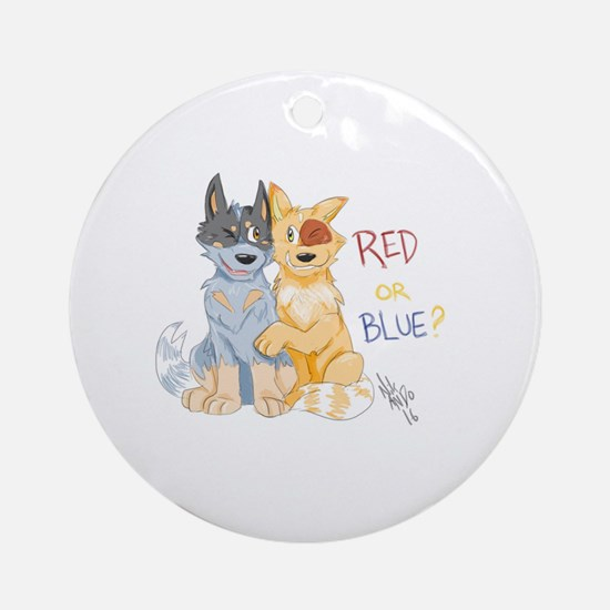 Cute Heeler Round Ornament
