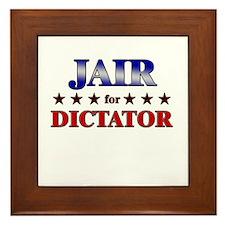 JAIR for dictator Framed Tile