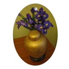 Purple with A Passion! Oval Ornament