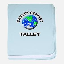 World's Okayest Talley baby blanket