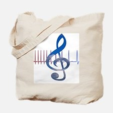 Cute Music therapy Tote Bag