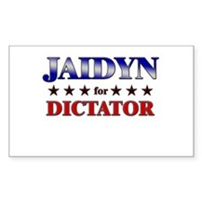 JAIDYN for dictator Rectangle Decal