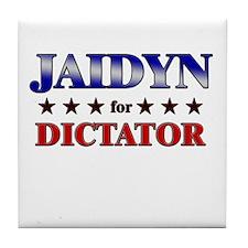 JAIDYN for dictator Tile Coaster