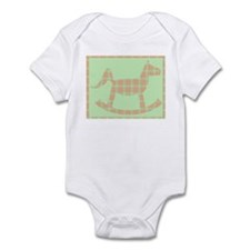Plaid Rocking Horse Onesie