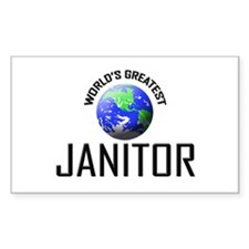 World's Greatest JANITOR Rectangle Decal
