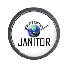World's Greatest JANITOR Wall Clock