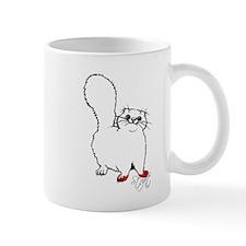 White Persian Bad Kitty Mug