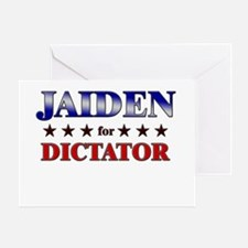 JAIDEN for dictator Greeting Card