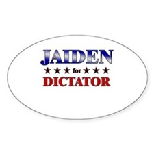 JAIDEN for dictator Oval Decal