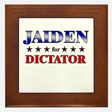 JAIDEN for dictator Framed Tile
