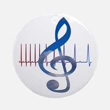 Cute Music therapy Round Ornament