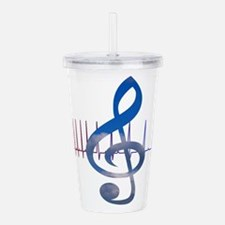 Cute Music therapy Acrylic Double-wall Tumbler