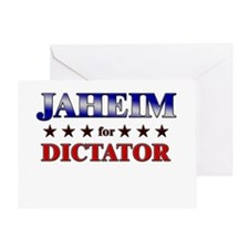 JAHEIM for dictator Greeting Card