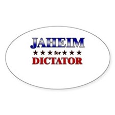 JAHEIM for dictator Oval Decal