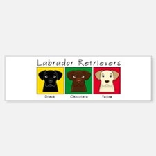 Three Labradors Bumper Bumper Bumper Sticker
