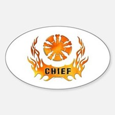 Fire Chiefs Flame Tattoo Decal