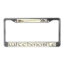 Witchmobile License Plate Frame