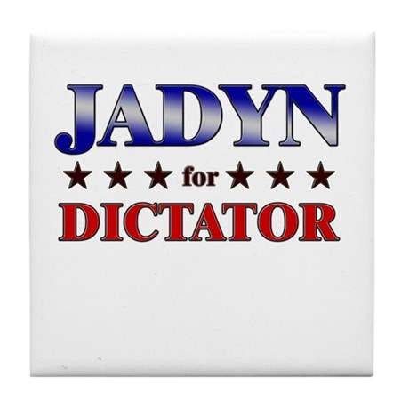 JADYN for dictator Tile Coaster
