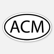 ACM Oval Decal