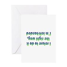 upsidedown1 Greeting Cards