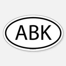 ABK Oval Decal