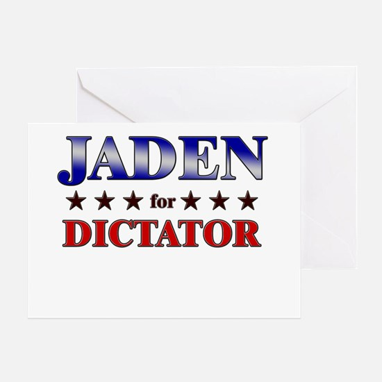 JADEN for dictator Greeting Card