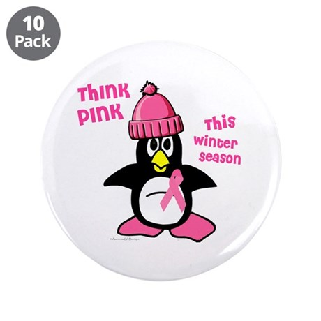 "Winter Penguin 2 (BC Awareness) 3.5"" Button (10 pa"