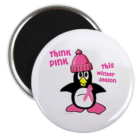 "Winter Penguin 2 (BC Awareness) 2.25"" Magnet (10 p"