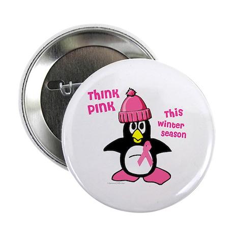 "Winter Penguin 2 (BC Awareness) 2.25"" Button (10 p"