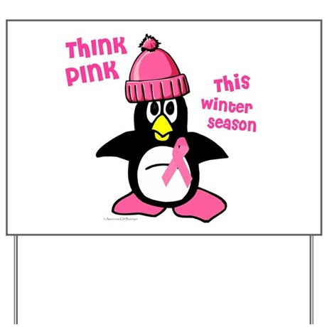 Winter Penguin 2 (BC Awareness) Yard Sign
