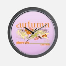 Gilmore Girls Autumn Wall Clock