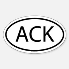 ACK Oval Bumper Stickers