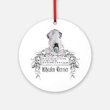 Wheaten Terrier Irish Proverb Ornament (Round)