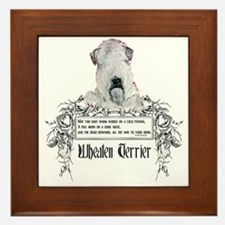 Wheaten Terrier Irish Proverb Framed Tile