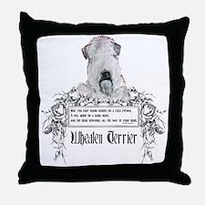 Wheaten Terrier Irish Proverb Throw Pillow
