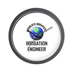 World's Greatest IRRIGATION ENGINEER Wall Clock