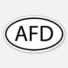 AFD Oval Decal