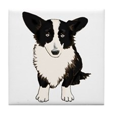 Sitting Cardigan Corgi Tile Coaster