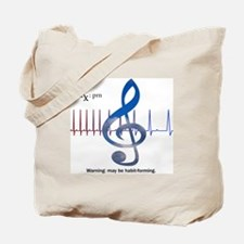 Funny Music therapy Tote Bag