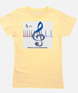 Funny Music therapy Girl's Tee