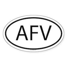 AFV Oval Decal