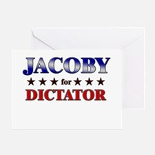 JACOBY for dictator Greeting Card